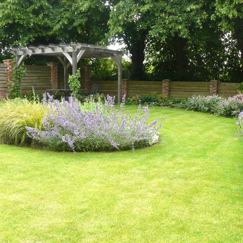 Modern Cottage Garden Colourful planting throughout Summer and Autumn