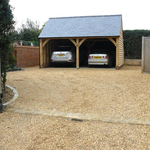 Oak Frame Double Garage